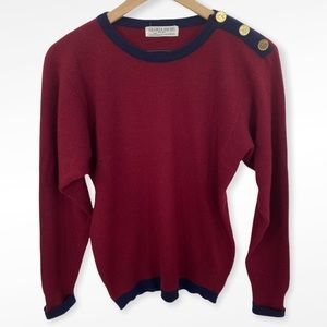 VTG Gloria Sachs Cashmere Coin Detail Sweater